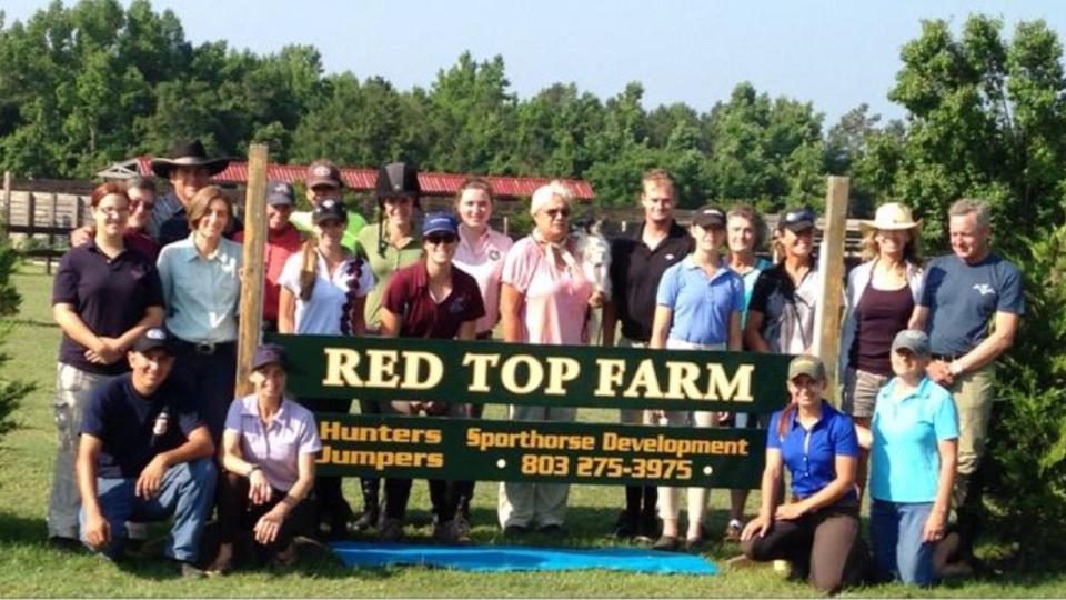 Participants at Red Top Farm Young Horse Trainer School
