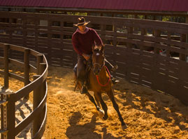 Jose riding in Roundpen